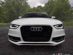 The small touch of chrome on this matte black ECS Tuning grille is perfection! http://www.eurosporttuning.com/rs4-mesh-style-grille-black-with-chrome-frame.html