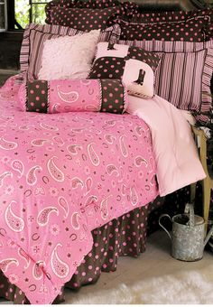 Pink Paisley Cowgirl Bedding Collection