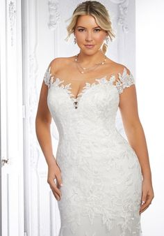 Plus Size Wedding Dresses: Julietta Collection | Morilee Mori Lee Wedding Gowns, Plus Size Wedding Gowns, Bridal Wedding Dresses, Designer Wedding Dresses, Lace Ball Gowns, Tulle Ball Gown, Fit And Flare Wedding Dress, Bridal And Formal, A Line Gown