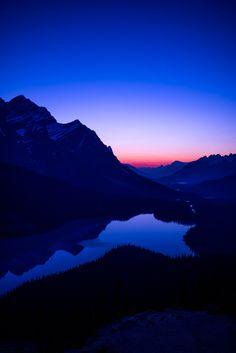 Peyto Lake At Twilight  Jasper National Park, Alberta, Canada