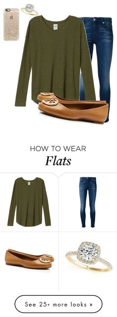 """Lol"" by prepallday on Polyvore featuring 7 For All Mankind, Casetify, Tory Burch and Allurez"