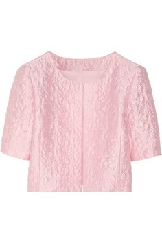 Oscar de la Renta Cropped cotton-blend brocade jacket NET-A-PORTER.COM