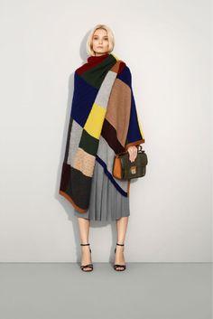 Chloe Wool patchwork poncho