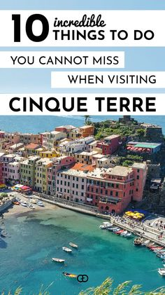 A list of the most incredible things to do when visiting Cinque Terre in Italy! Cinque Terre is a unique paradise that will leave you without words! This will not only cover how to get to Cinque Terre in Italy, but also info on weather, the best time to visit, train travel, hiking, and the Cinque Terre Card.