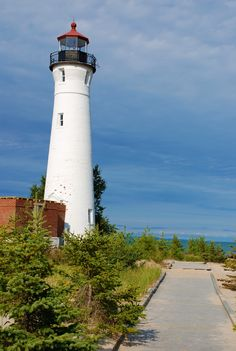 While you're in Sault Ste. Marie, Michigan, you should make a trip to a Lake Superior lighthouse! The drive to the Crisp Point Lighthouse is long and sometimes unusual, but the sights you see when you reach your destination are well worth it.
