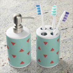 Summer Delight Soap Dispenser And Toothbrush Holder