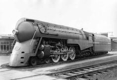 Power for the Century - Just out of Alco's Schenectady, N.Y., plant, New York Central 5445 was the first of 10 J-3a Hudsons that wore streamlined cowling for service on the 1938 edition of the 20th Century Limited. - from Classic Trains