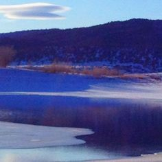 Winter at Storrie Lake, Las Vegas, New Mexico, USA