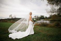 bride with veil at Mint Springs Farm #realwedding #weddingdress #weddingstyle #weddinginspiration #weddingcolors #weddingphoto #bride