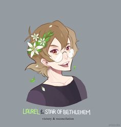 Pidge and Green and White Laurel and Star of Bethlehem Flowers in her hair from Voltron Legendary Defender