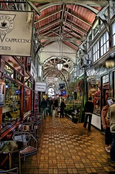 Oxford Covered Market, Oxford has virtually everything inside this maze of shops that seems to wend on and on.