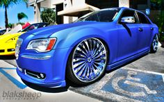 2012 Chrysler 300 with flat blue paint