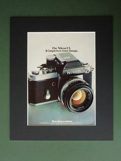 Vintage 1974 Nikon F2 Advertisement  Mounted by PrimrosePrints, £10.00