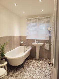 Devonstone feature floor bathroom tile grey