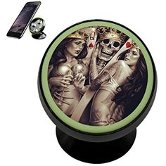 Poker Skull King Queen Magnetic Phone Car Mount Holder Noctilucent Mobile Cradle Stand Universal 360 ° Rotating Car Dashboard Support Cell Phone Kit Gadget ** Check this awesome product by going to the link at the image. (This is an affiliate link) Car Mount Holder, King Queen, Car Accessories, Poker, Gadgets, Skull, Kit, Awesome, Image Link
