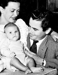 Eleanor Powell with husband Glenn Ford and son Peter