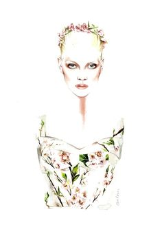 Dolce Gabbana SS 2014 illustrated by António Soares