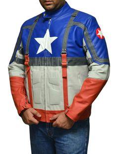 Jaqueta de couro Capitão América.