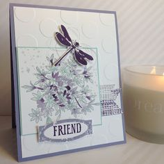 Card made with the Stampin' Up stamp set, Awesomely Artistic. Colors used are Wisteria Wonder, Elegant Eggplant, Smoky Slate, Pool Party and Whisper White.