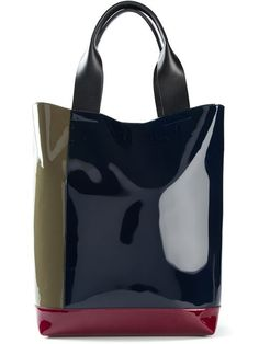 Shop Marni colour block shopper tote in The Shop at Bluebird from the world's best independent boutiques at farfetch.com. Shop 300 boutiques at one address.