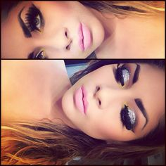 sparkles, liner, and falsies. <3