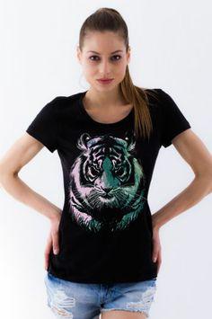 #sekizcom #woman #girl #tshirt #shopping #gri #tasarim #design #baski #fashion #clothing #sweatshirt #uzunkollu #tiger #black