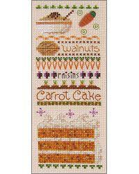 carrot cake cross stitch sampler