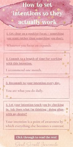 Learn how to set intentions to achieve your goals and manifest your dreams! Natural Cough Remedies, Home Remedies, Manifestation Law Of Attraction, Life Purpose, Self Improvement Tips, Self Healing, Journal Prompts, Life Motivation, Positive Life