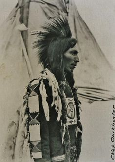 """""""Chief Duckhunter"""", a man of the Cree Nation, circa 1903. No additional information."""