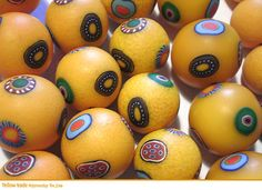 Polymer clay trade beads by  Liva Rudzite via Live Journal