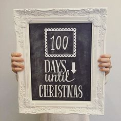 Christmas Countdown Sign - Made with the CAMEO