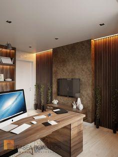 Фото: Дизайн интерьера кабинета - Квартира в современном стиле, ЖК «Сергиев Пассаж», 110 кв.м.