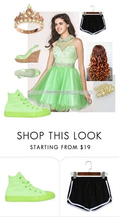 """""""Peridot princess"""" by smilelykristenjoy on Polyvore featuring Converse and Le Silla"""