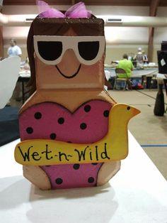 Swimmer Painted Bricks Crafts, Brick Crafts, Painted Pavers, Stone Crafts, Wood Crafts, Fun Crafts, Concrete Pavers, Concrete Blocks, Patio Blocks