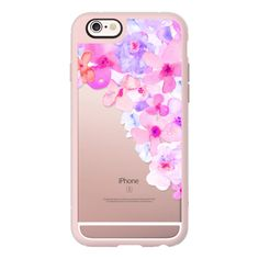 iPhone 6 Plus/6/5/5s/5c Case - Bright Purple Watercolor Flowers... ($40) ❤ liked on Polyvore featuring accessories, tech accessories and iphone case