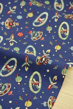 3755  Cath Kidston Space Dark Blue Cotton Canvas by boqinana