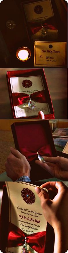 I just fell in love with this invitation.    Found on: ABC's Revenge