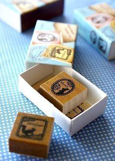 Matchbox Style Stamp Set  Lace by karaku on Etsy, ¥650