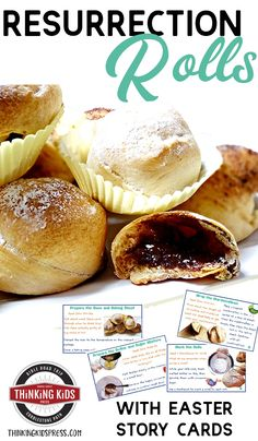 Make this easy Resurrection Rolls Recipe with printable Easter Story Cards. You'll have a great Easter devotion and object lesson. Start a new tradition! Easter Activities For Kids, Bible Crafts For Kids, Easter Devotions, Easter Books, Easter Eggs, Cute Bibles, Bible Object Lessons, Jesus Is Risen, Ninjas