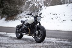 The BMW R NineT Pure is turned into a Bobber build by BAAK workshop.
