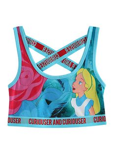Disney Alice In Wonderland Curiouser Sports Bra | Hot Topic