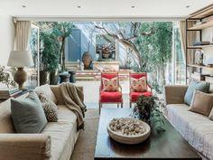 aménagement de salon et extension de maison en verre