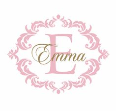Items similar to Name and Initial Vinyl Wall Decal Shabby Chic Damask Border Personalized Monogram Wall Decal Girl Baby Nursery Room Wall Art on Etsy Nursery Room, Nursery Wall Art, Girl Nursery, Bedroom, Monogram Wall Decals, Vinyl Wall Decals, Princesa Sophia, Shabby Chic Baby, New Baby Products