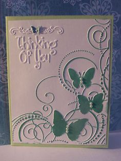 Sizzix Embossing Folder Thinking of You Sentiment