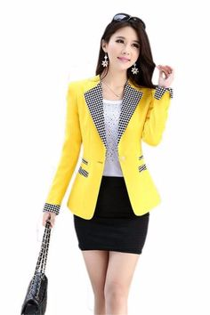 Blazer Feminino Its Best Attire Business 06 Business Dresses, Business Attire, African Fashion Dresses, Fashion Outfits, Womens Fashion, Suits For Women, Clothes For Women, Blazer Outfits, Blazer Suit
