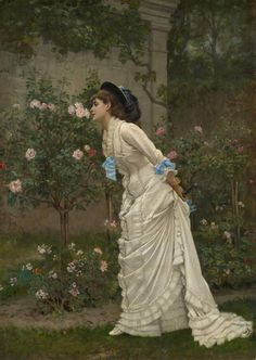 Woman and Roses, 1879 by Auguste Toulmouche as fine art print. High-quality museum quality from Austrian manufactory. Stretched on canvas or printed as photo. We produce your artwork exactly like you wish. With or without painting frame. Moving To Paris, Counted Cross Stitch Patterns, Artists Like, Painting Frames, Fine Art Prints, Pin Up, Roses, Woman, Earl Moran