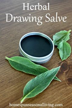 Get rid of splinters, slivers, stingers, and more from the skin by learning how to make and use this quick and easy herbal drawing salve.