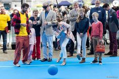 "The Belgian Royal Family went to the ""paralympics village"" and tried soma paralympic sports, 20th September 2015"