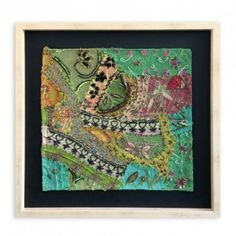 Sari-Verde1-445x445 Sari, Frame, Painting, Home Decor, Scrappy Quilts, Frames, Saree, Picture Frame, Painting Art
