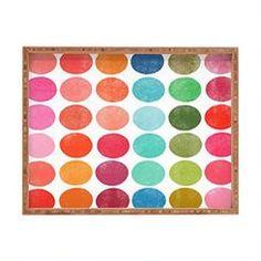 DENY Designs Garima Dhawan Colorplay 5 Indoor/Outdoor Rectangular Tray, 17 x 22.5